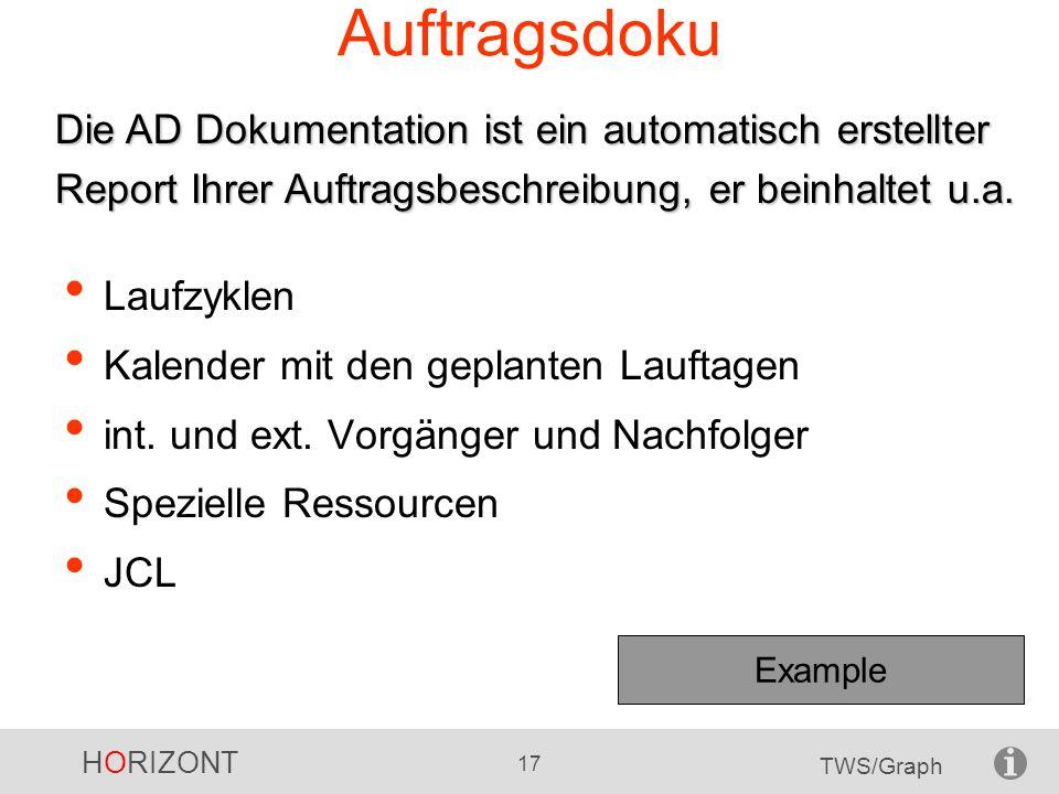 Auftragsdoku Die AD Dokumentation ist ein automatisch erstellter Report Ihrer Auftragsbeschreibung, er beinhaltet u.a.