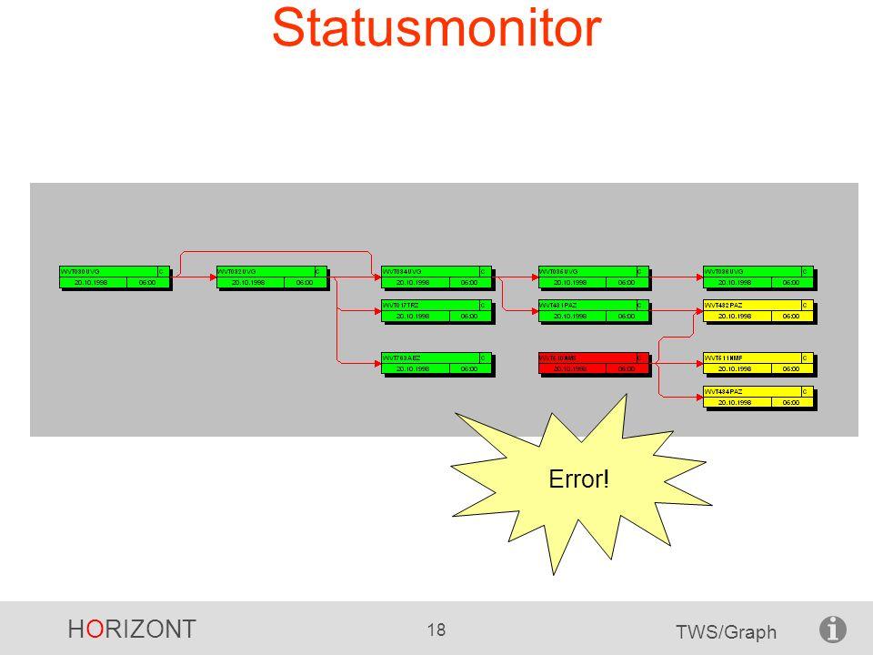 Statusmonitor Error!