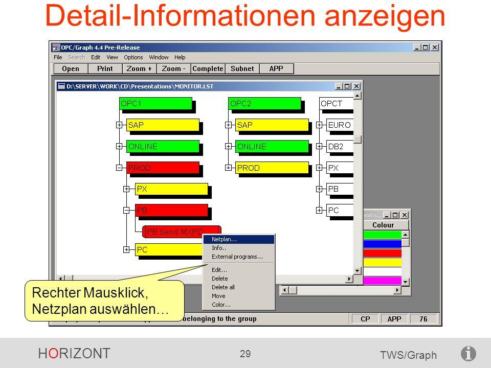 Detail-Informationen anzeigen