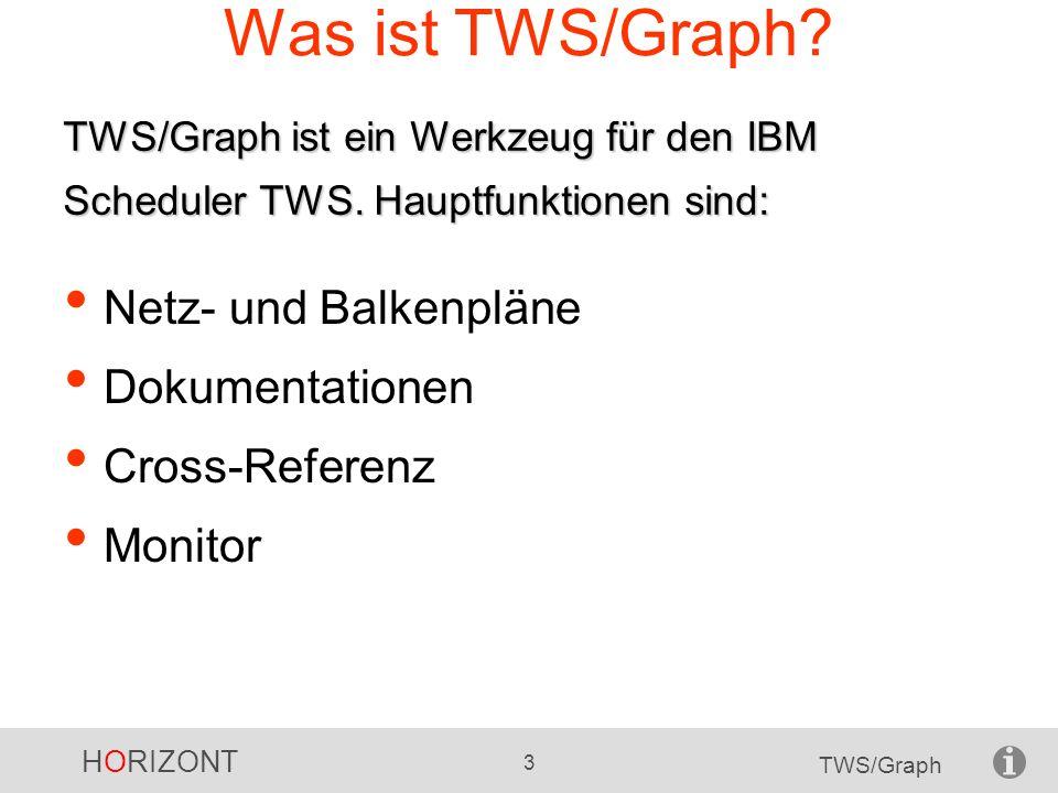 Was ist TWS/Graph Netz- und Balkenpläne Dokumentationen