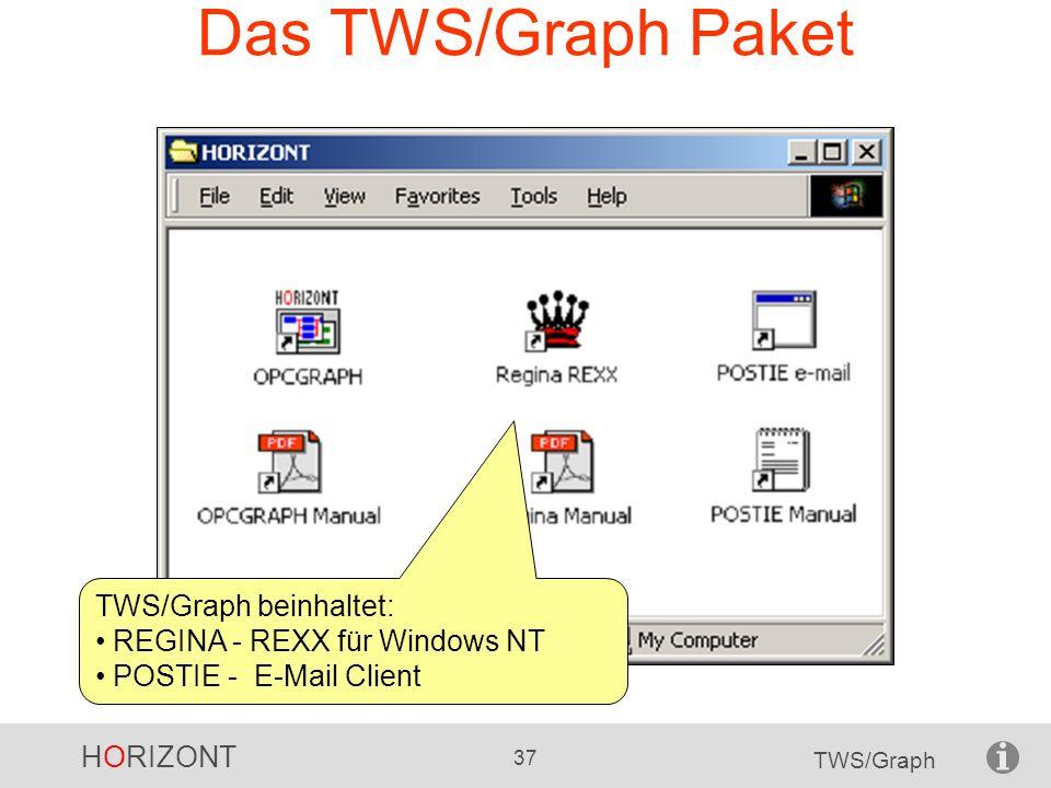 Das TWS/Graph Paket TWS/Graph beinhaltet: REGINA - REXX für Windows NT