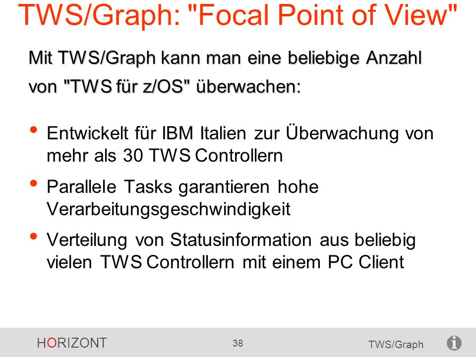 TWS/Graph: Focal Point of View
