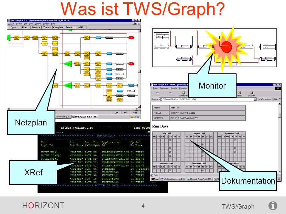 Was ist TWS/Graph Monitor Netzplan XRef Dokumentation