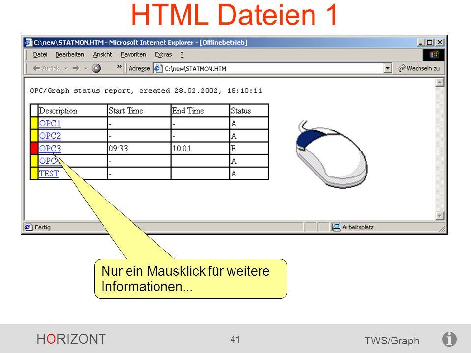 HTML Dateien 1 Nur ein Mausklick für weitere Informationen...