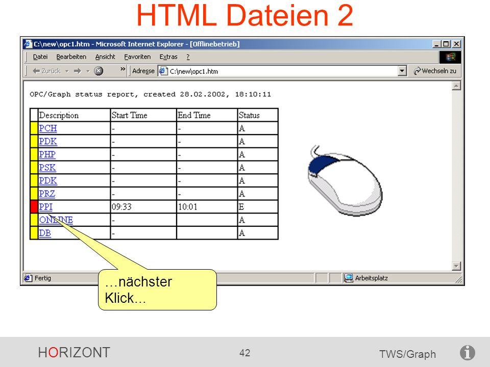 HTML Dateien 2 …nächster Klick...