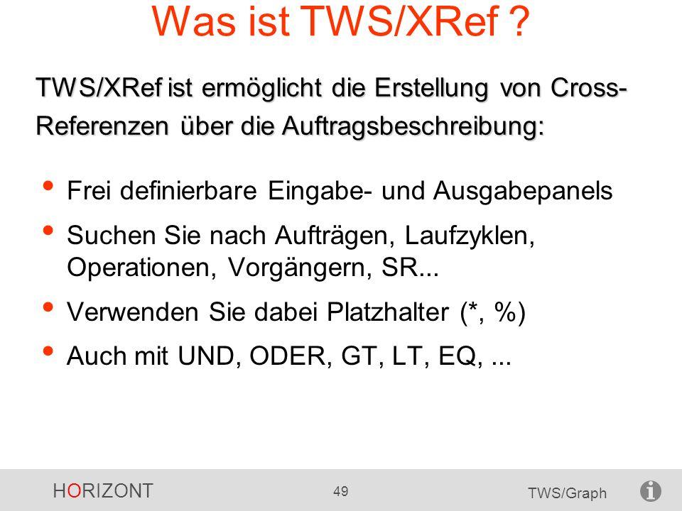 Was ist TWS/XRef TWS/XRef ist ermöglicht die Erstellung von Cross-Referenzen über die Auftragsbeschreibung: