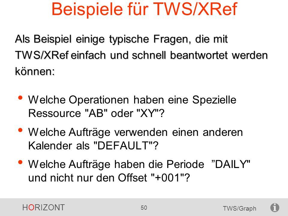 Beispiele für TWS/XRef