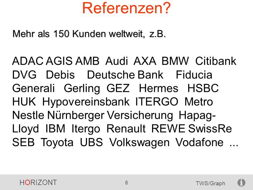 Referenzen Mehr als 150 Kunden weltweit, z.B.