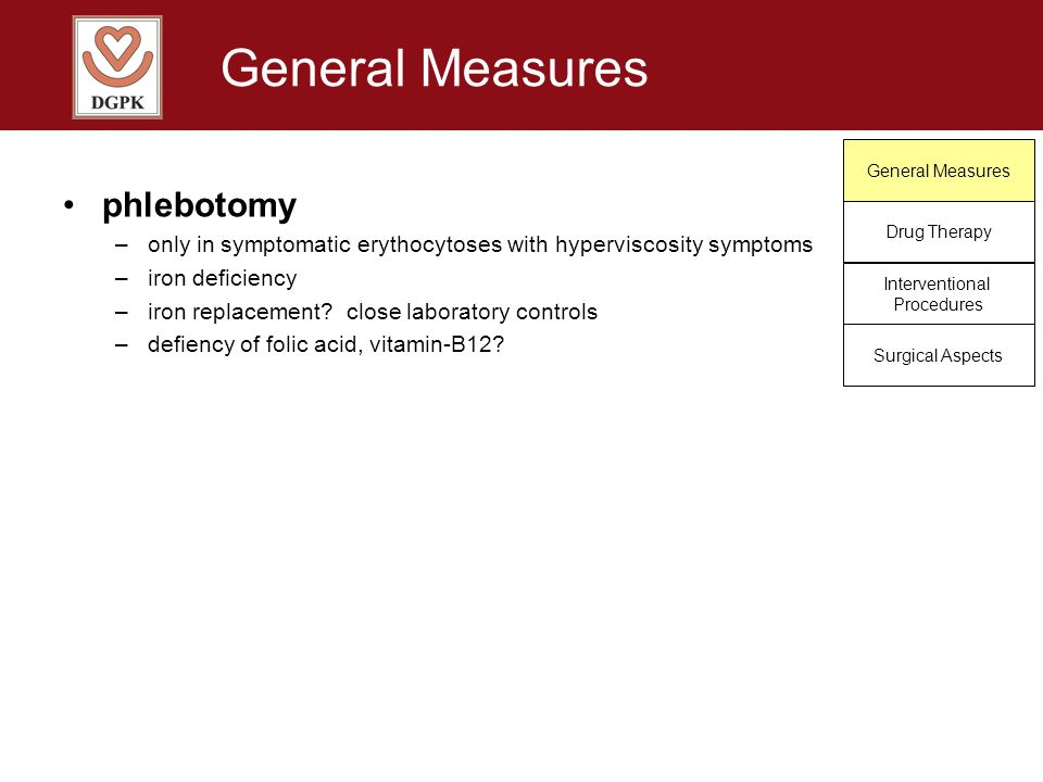 General Measures phlebotomy