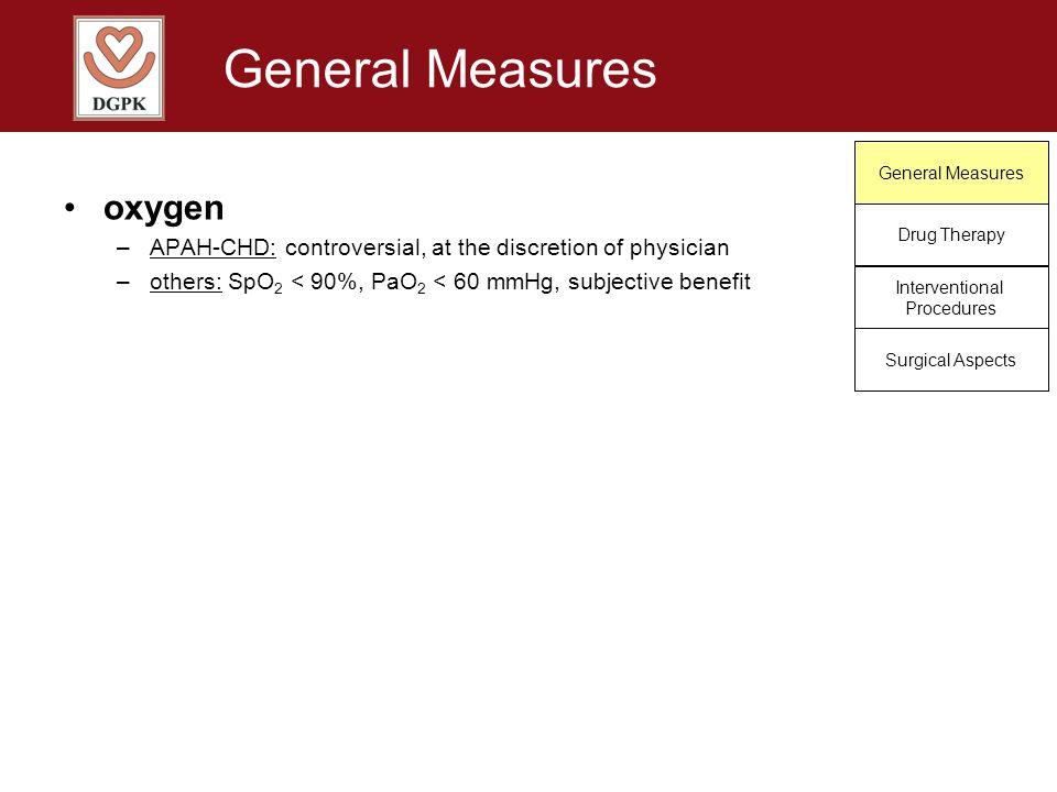 General Measures oxygen