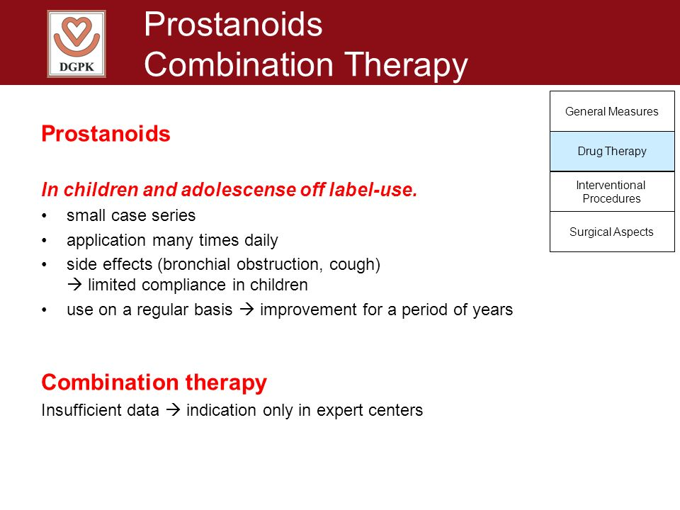 Prostanoids Combination Therapy