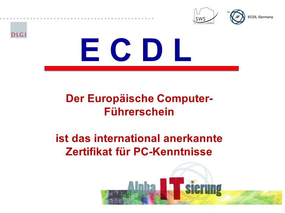 E C D L Der Europäische Computer-Führerschein
