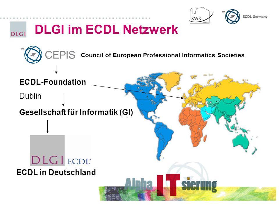 DLGI im ECDL Netzwerk ECDL-Foundation Dublin