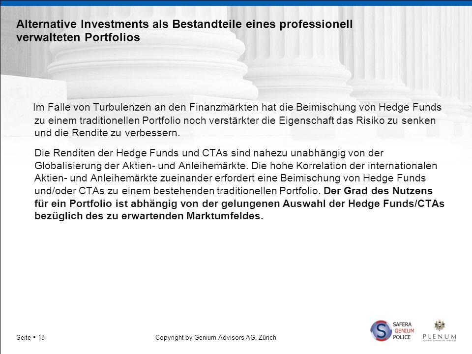 Alternative Investments als Bestandteile eines professionell verwalteten Portfolios