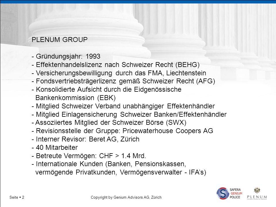 - Effektenhandelslizenz nach Schweizer Recht (BEHG)