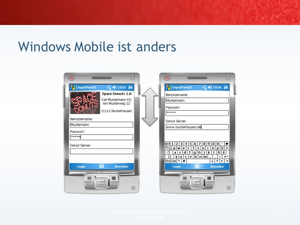 Windows Mobile ist anders