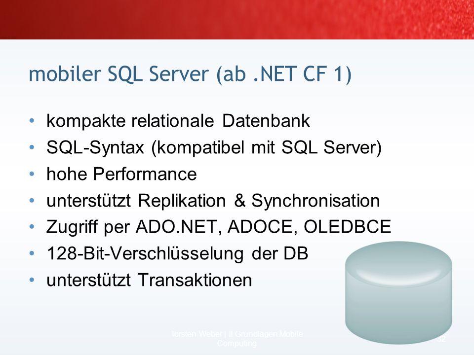 mobiler SQL Server (ab .NET CF 1)
