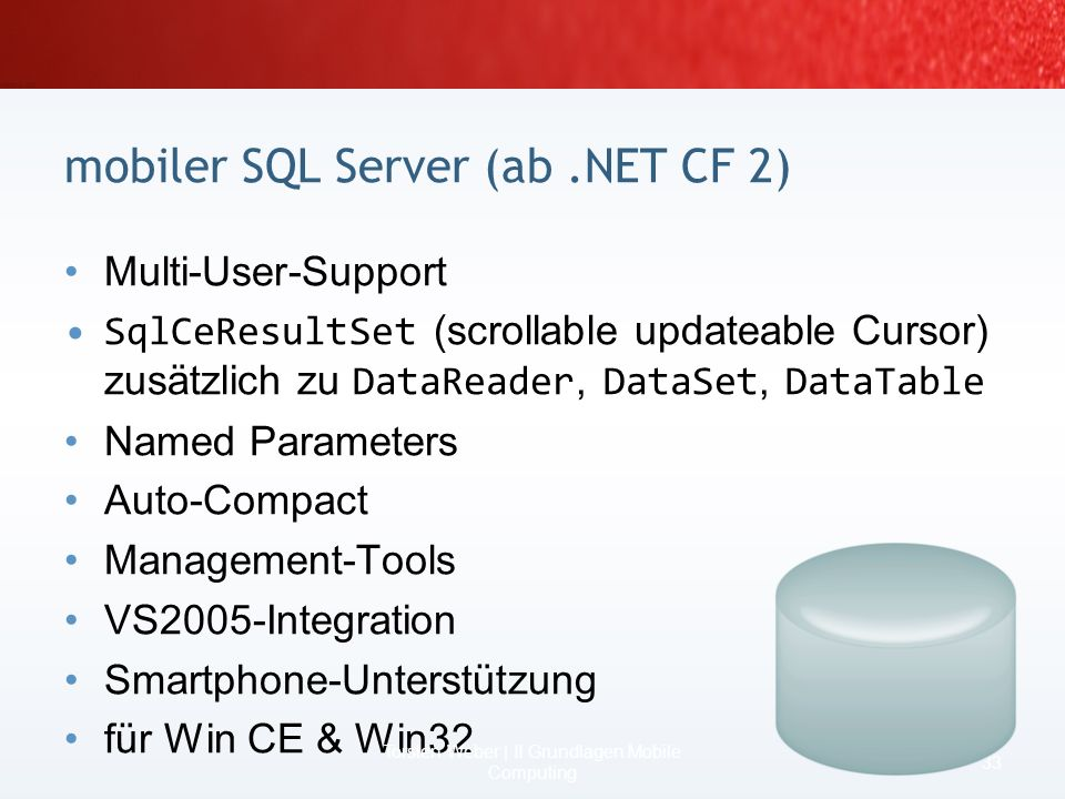 mobiler SQL Server (ab .NET CF 2)