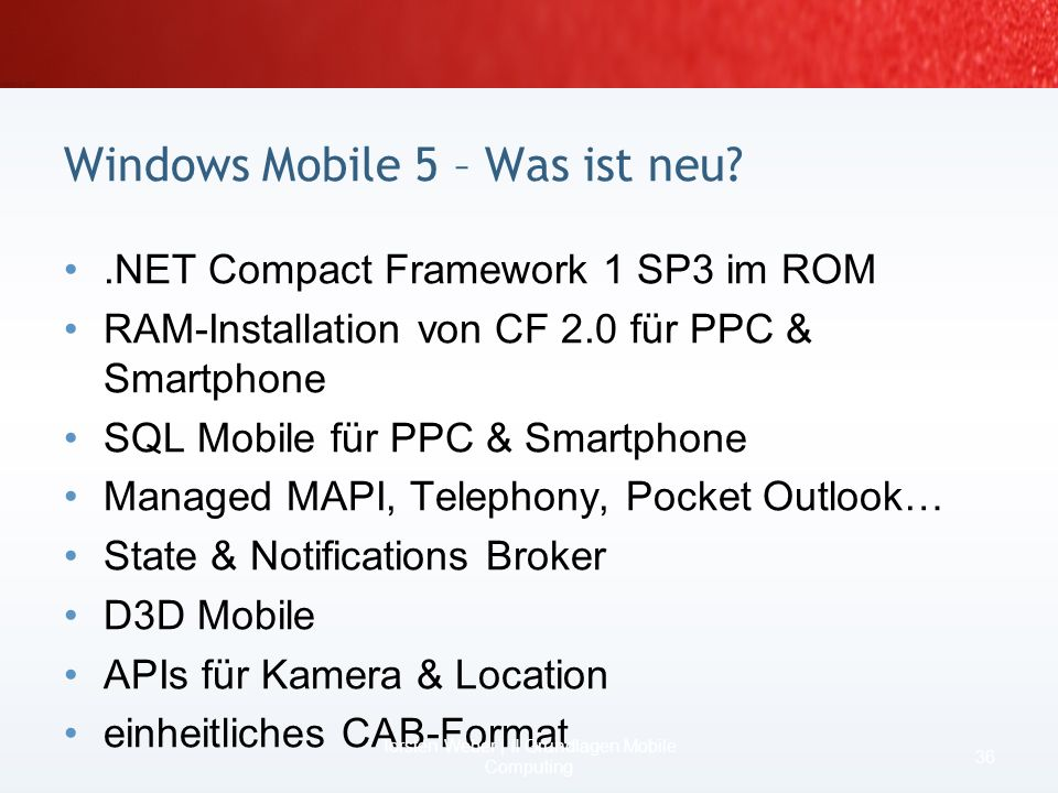 Windows Mobile 5 – Was ist neu