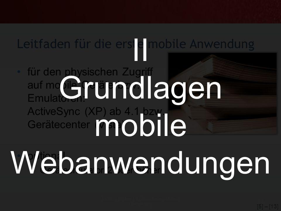 Leitfaden für die erste mobile Anwendung