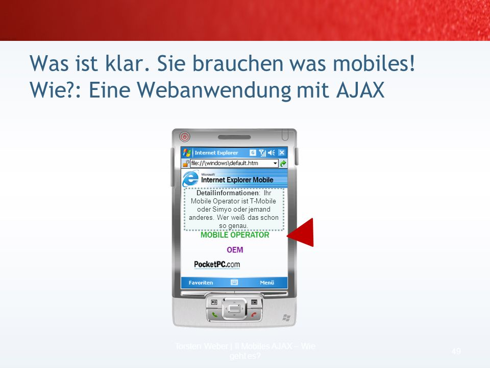 Torsten Weber | II Mobiles AJAX – Wie geht es