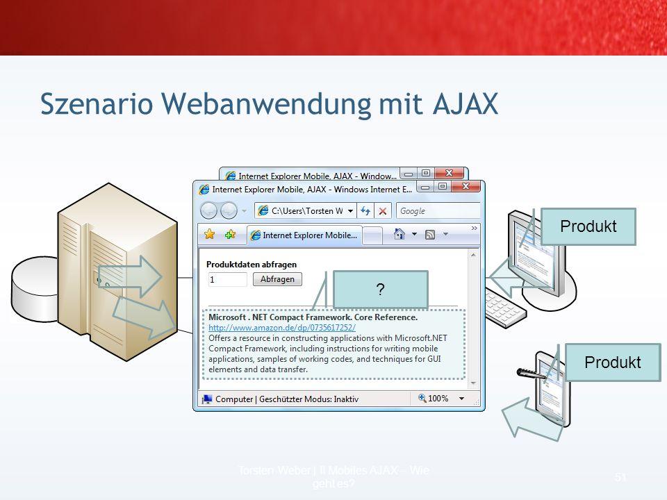 Szenario Webanwendung mit AJAX