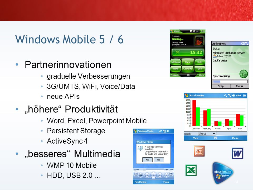"Windows Mobile 5 / 6 Partnerinnovationen ""höhere Produktivität"