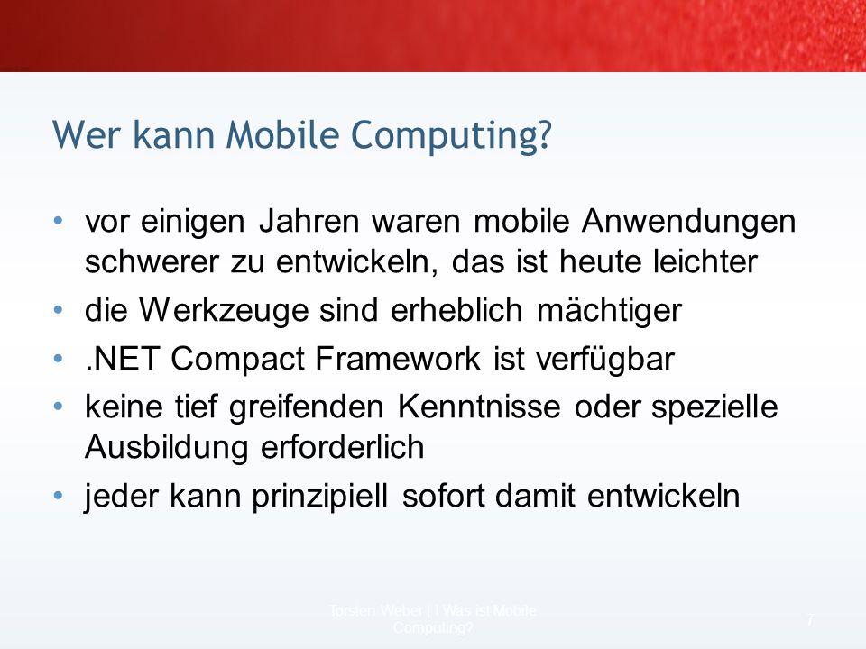 Wer kann Mobile Computing