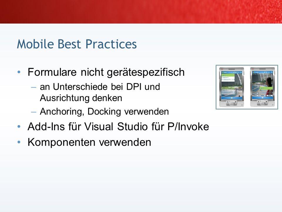 Mobile Best Practices Formulare nicht gerätespezifisch