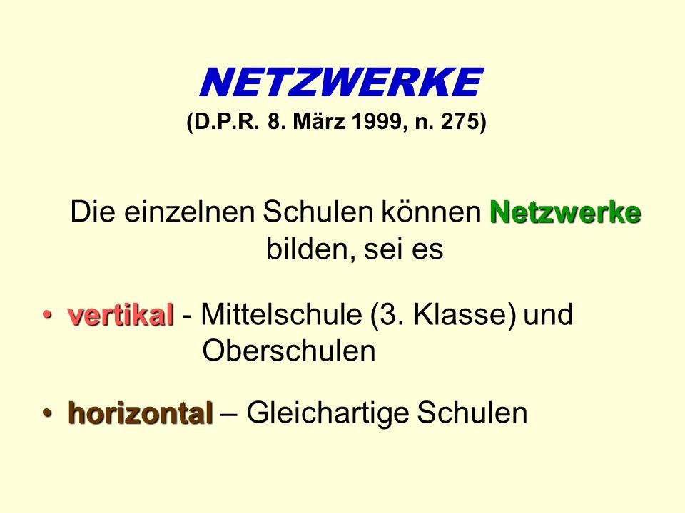 Die einzelnen Schulen können Netzwerke bilden, sei es