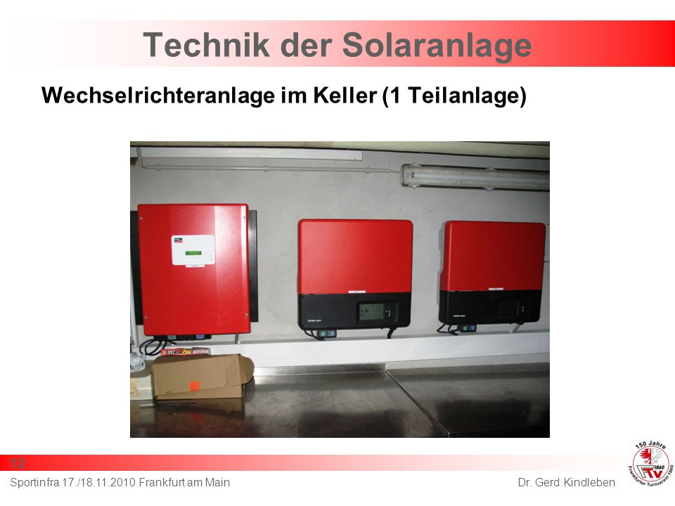 Technik der Solaranlage