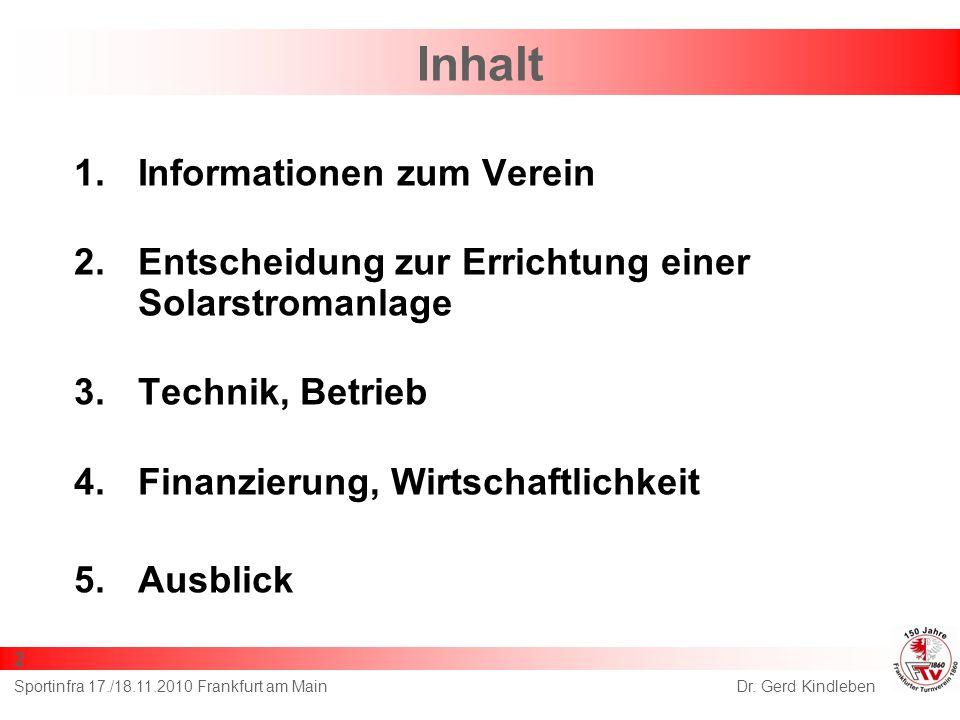 Inhalt Informationen zum Verein