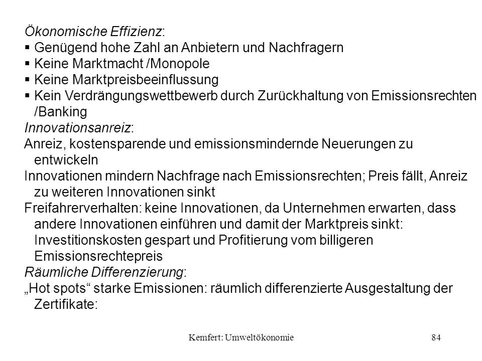 Kemfert: Umweltökonomie