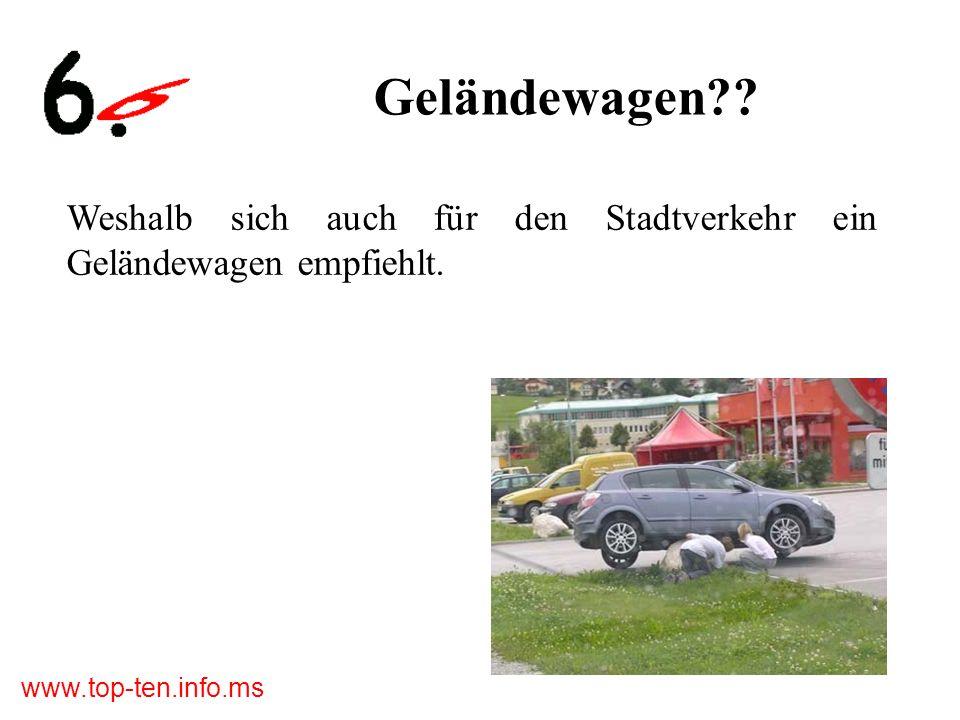 Geländewagen Weshalb sich auch für den Stadtverkehr ein Geländewagen empfiehlt.