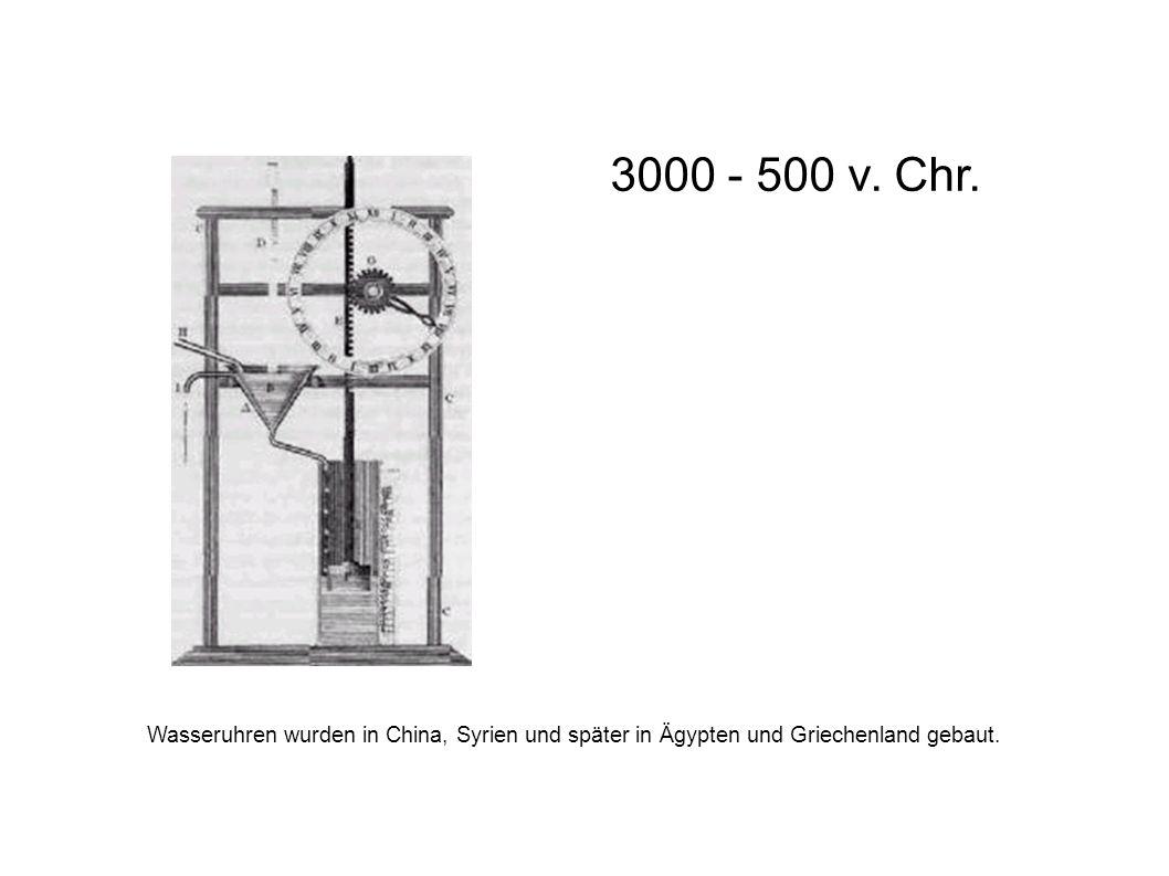 3000 - 500 v. Chr.