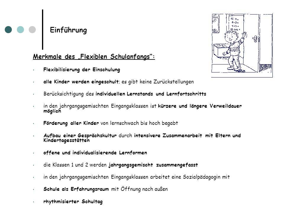 """Einführung Merkmale des """"Flexiblen Schulanfangs :"""