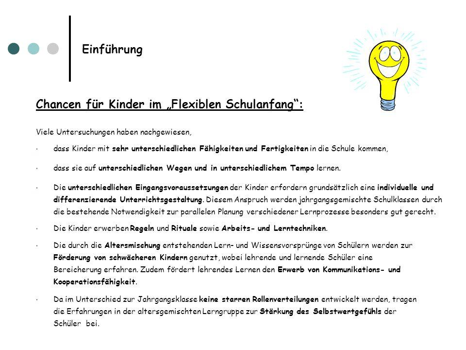 """Chancen für Kinder im """"Flexiblen Schulanfang :"""