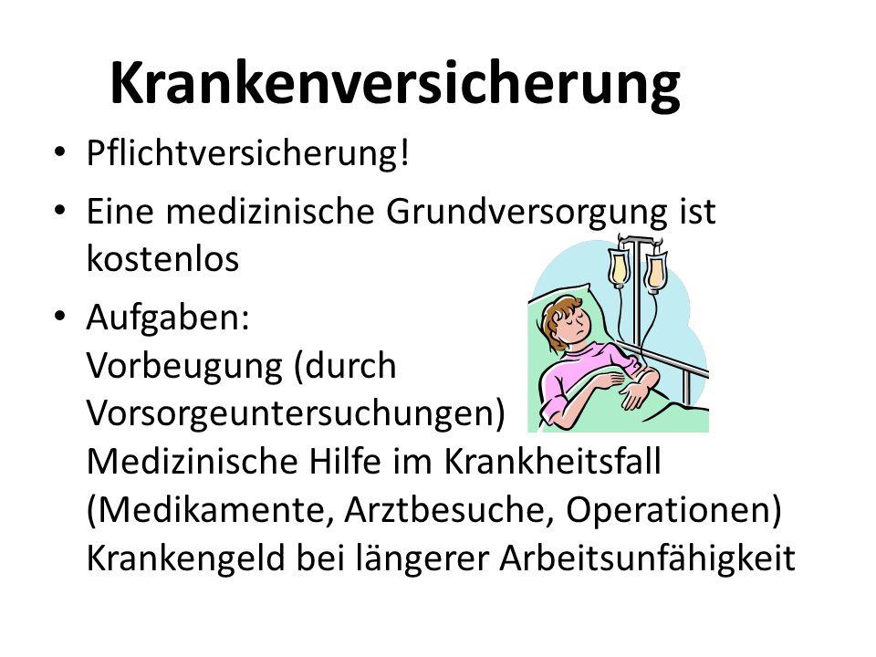 Krankenversicherung Pflichtversicherung!