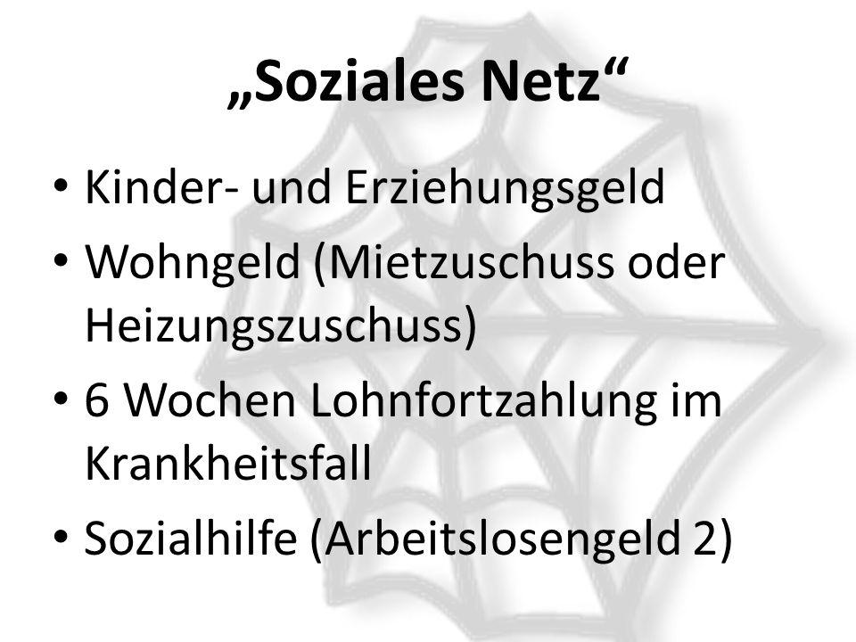 """""""Soziales Netz Kinder- und Erziehungsgeld"""