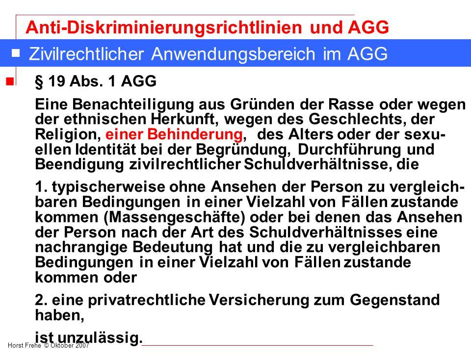 Zivilrechtlicher Anwendungsbereich im AGG