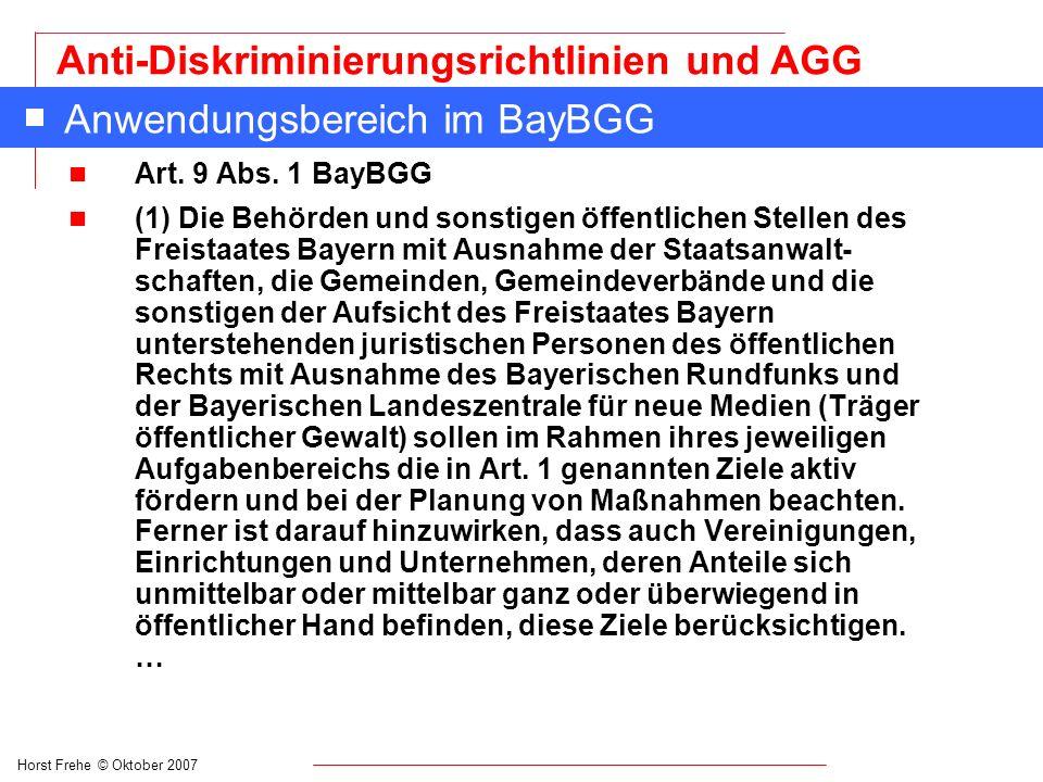 Anwendungsbereich im BayBGG