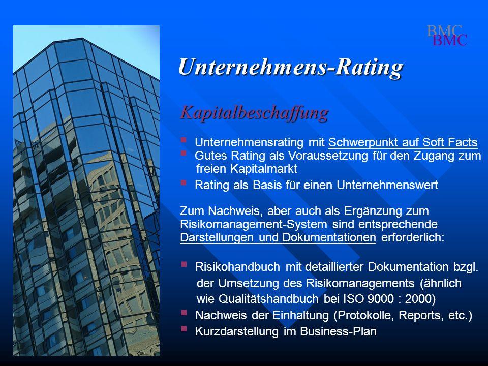 Unternehmens-Rating Kapitalbeschaffung BMC