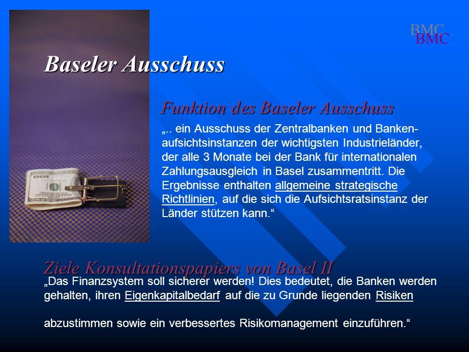 Baseler Ausschuss Funktion des Baseler Ausschuss