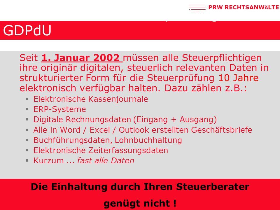 Elektronische Steuerprüfung: GDPdU