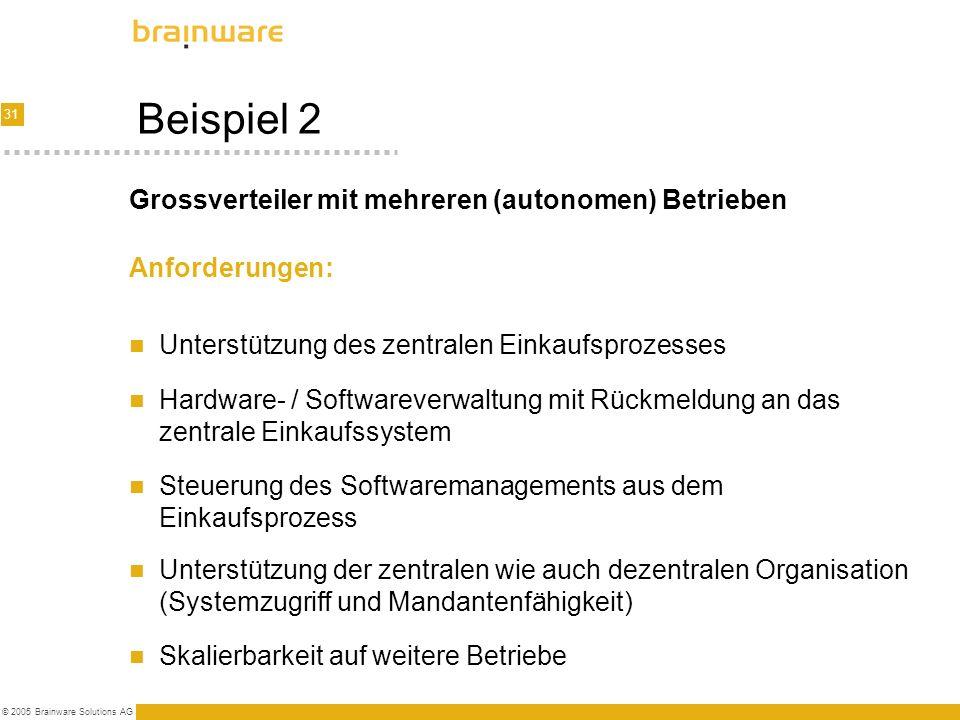 Beispiel 2 Grossverteiler mit mehreren (autonomen) Betrieben