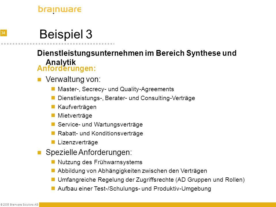 Beispiel 3 Dienstleistungsunternehmen im Bereich Synthese und Analytik