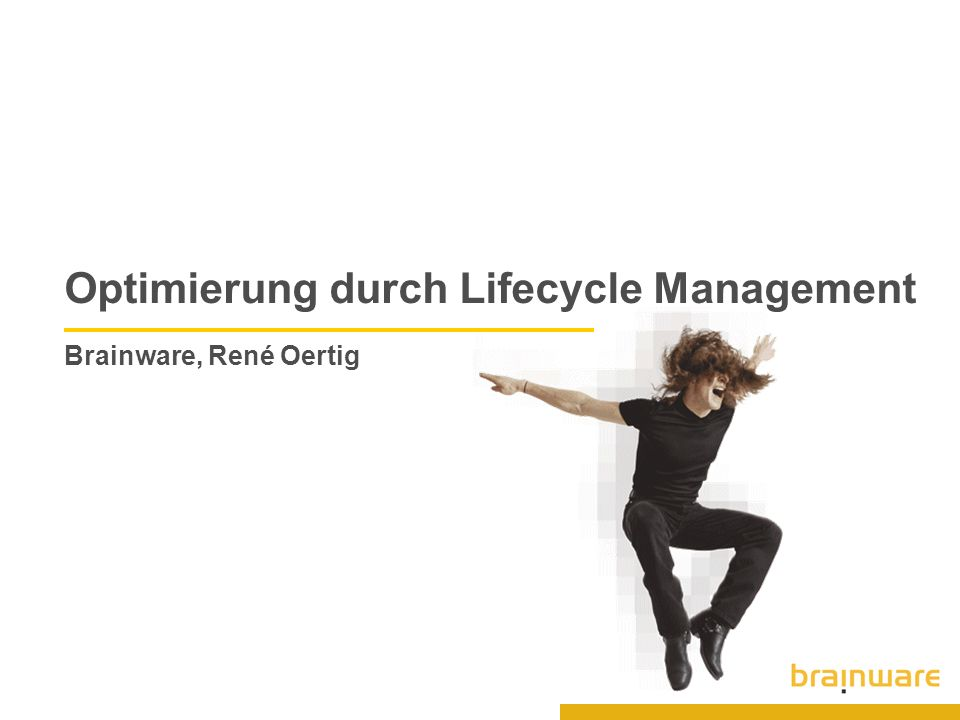 Optimierung durch Lifecycle Management Brainware, René Oertig