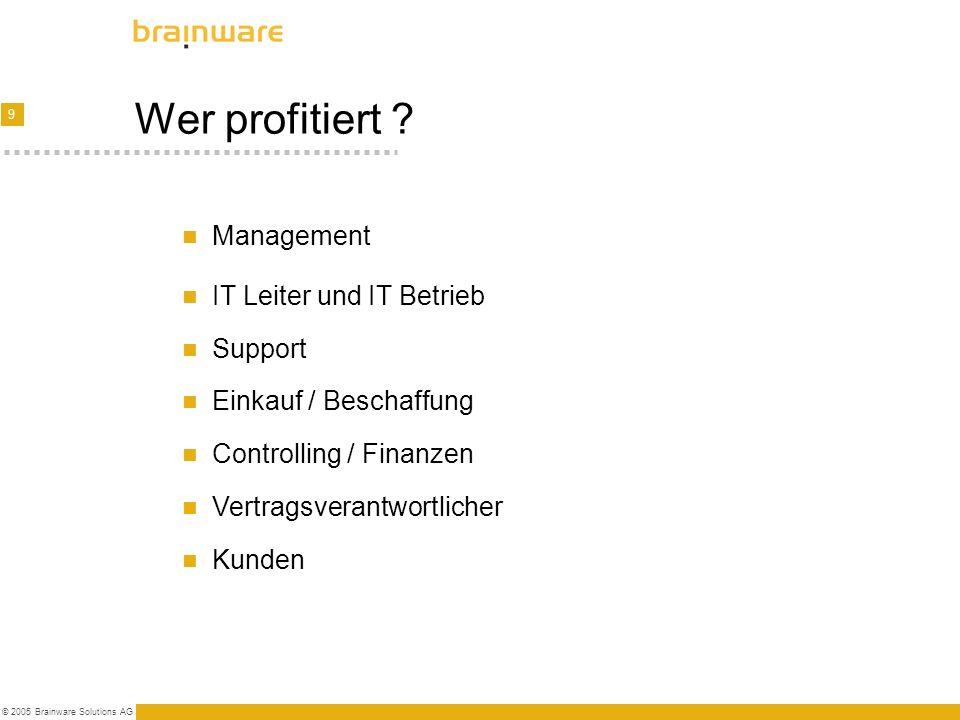 Wer profitiert Management IT Leiter und IT Betrieb Support