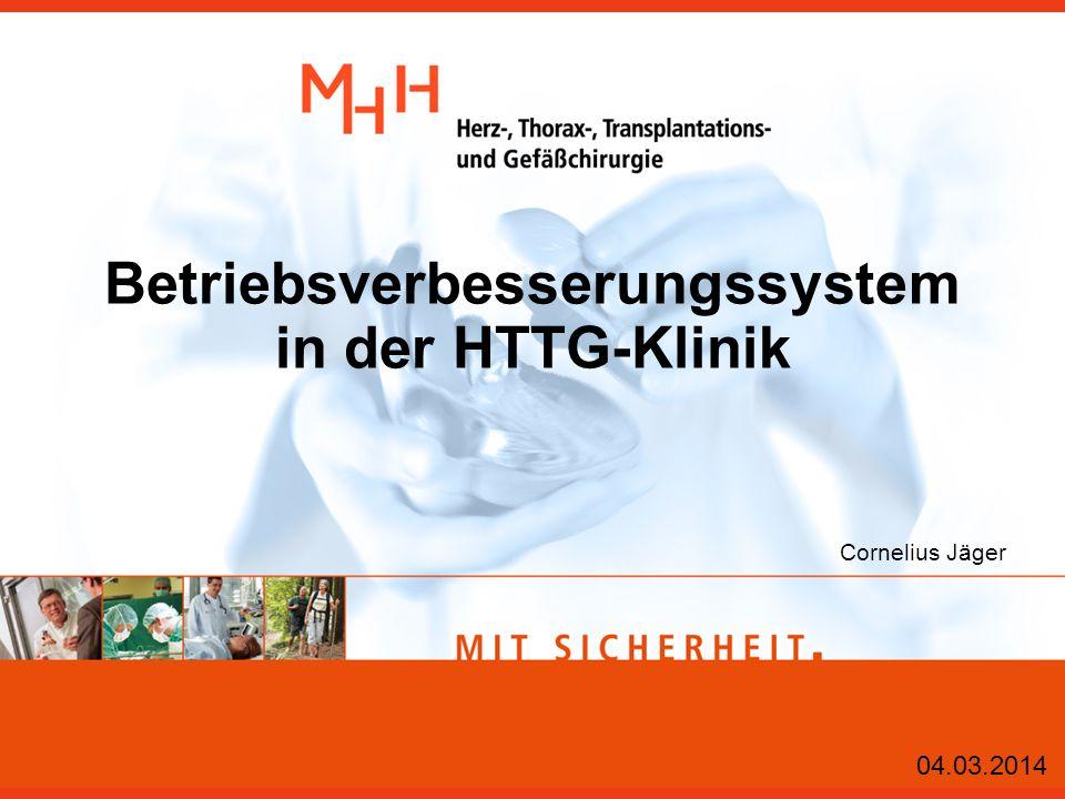 Betriebsverbesserungssystem in der HTTG-Klinik