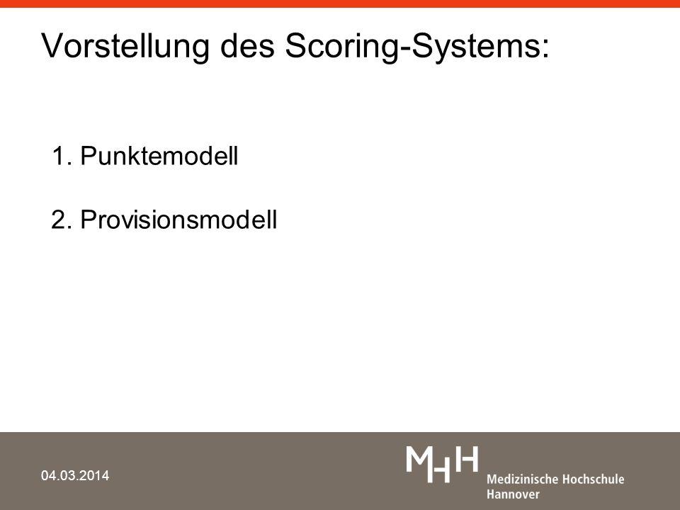 Vorstellung des Scoring-Systems: